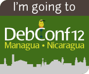 going to Debconf button
