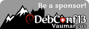 Be a sponsor for DebConf13!